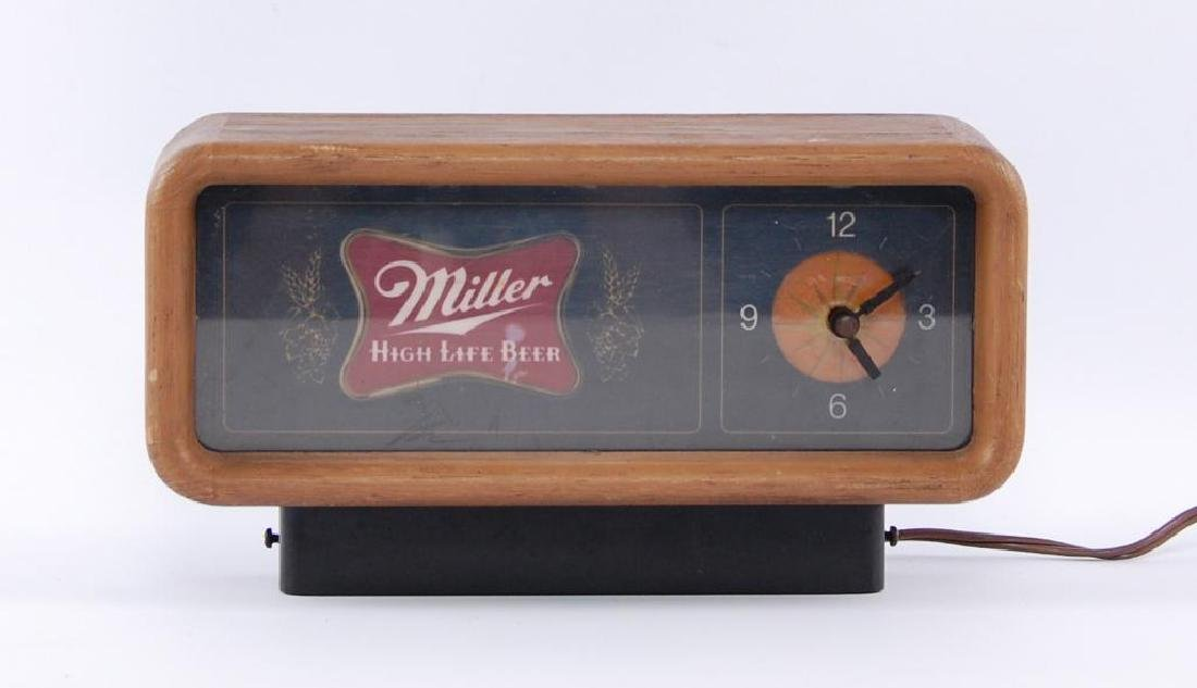Vintage Miller High Life Light Up Advertising Beer
