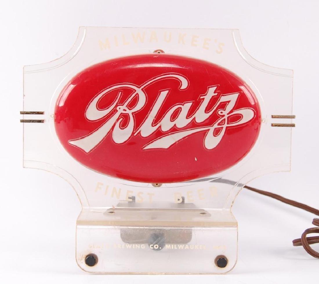 Vintage Blatz Light Up Advertising Cash Register Topper