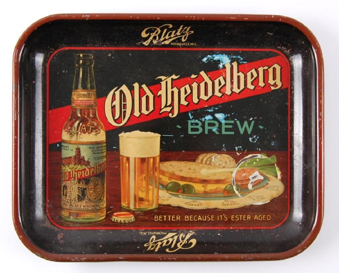 Pre Prohibition Blatz Old Heidelberg Brew Advertising