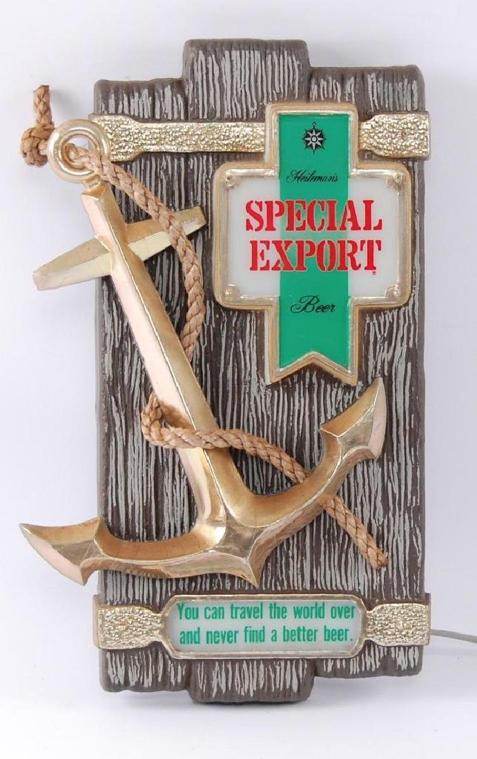 Vintage Heileman's Special Export Light Up Advertising