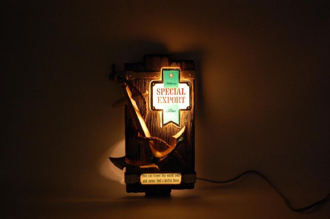 Vintage Heileman's Special Export Light Up Advertising - 2