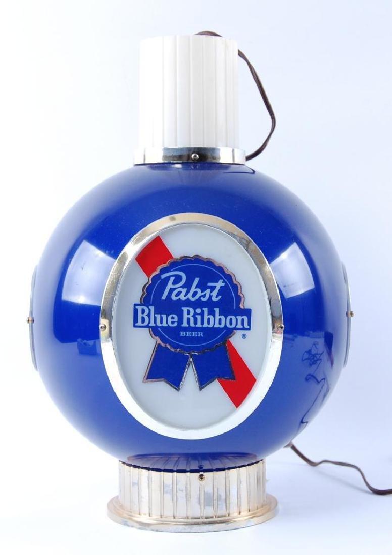 Vintage Pabst Blue Ribbon Light Up Advertising Hanging