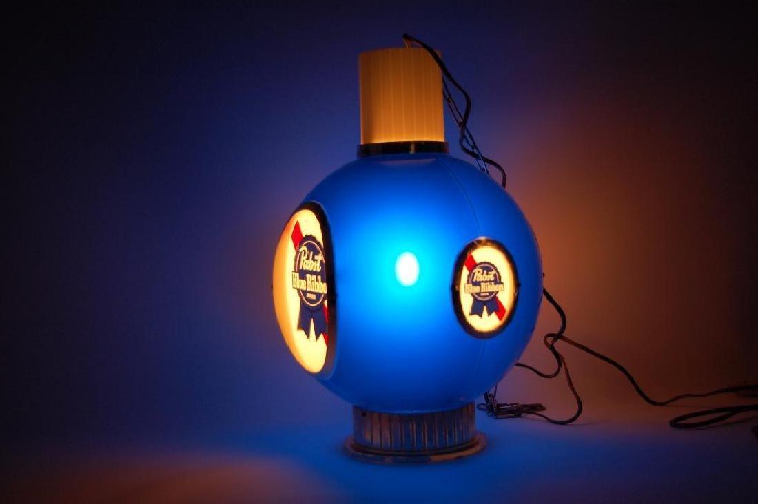 Vintage Pabst Blue Ribbon Light Up Advertising Hanging - 3