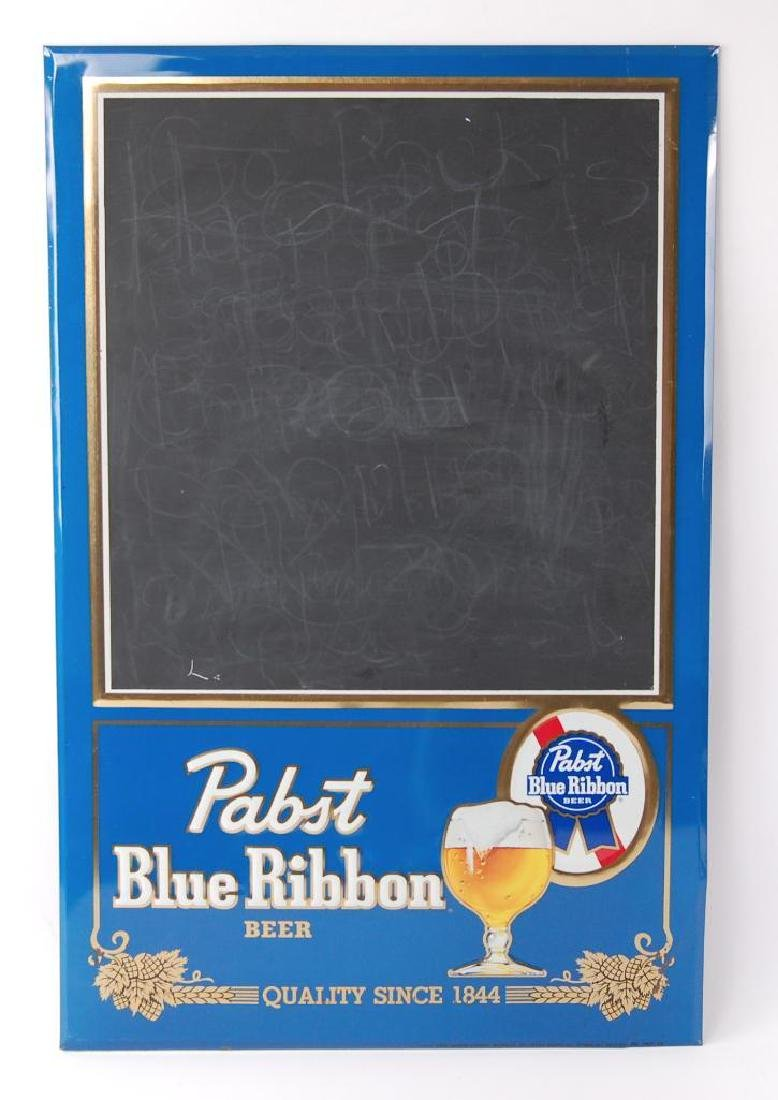 Vintage Pabst Blue Ribbon Advertising Metal Chalkboard