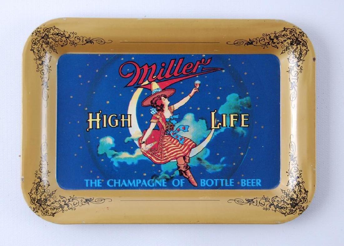 Vintage Miller High Life Advertising Metal Tip Tray