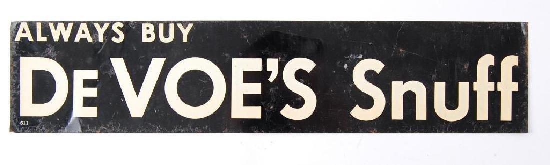 """Vintage """"Always Buy DeVoe's Snuff"""" Advertising Tin"""