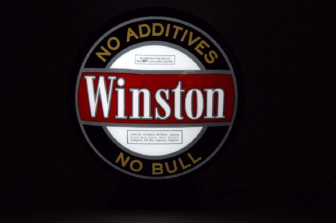 Winston's Cigarettes Light Up Advertising Pub Sign with - 2