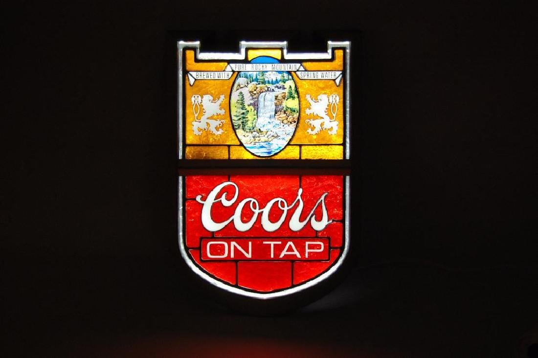 "Vintage Coors ""On Tap"" Light Up Advertising Beer Sign - 2"