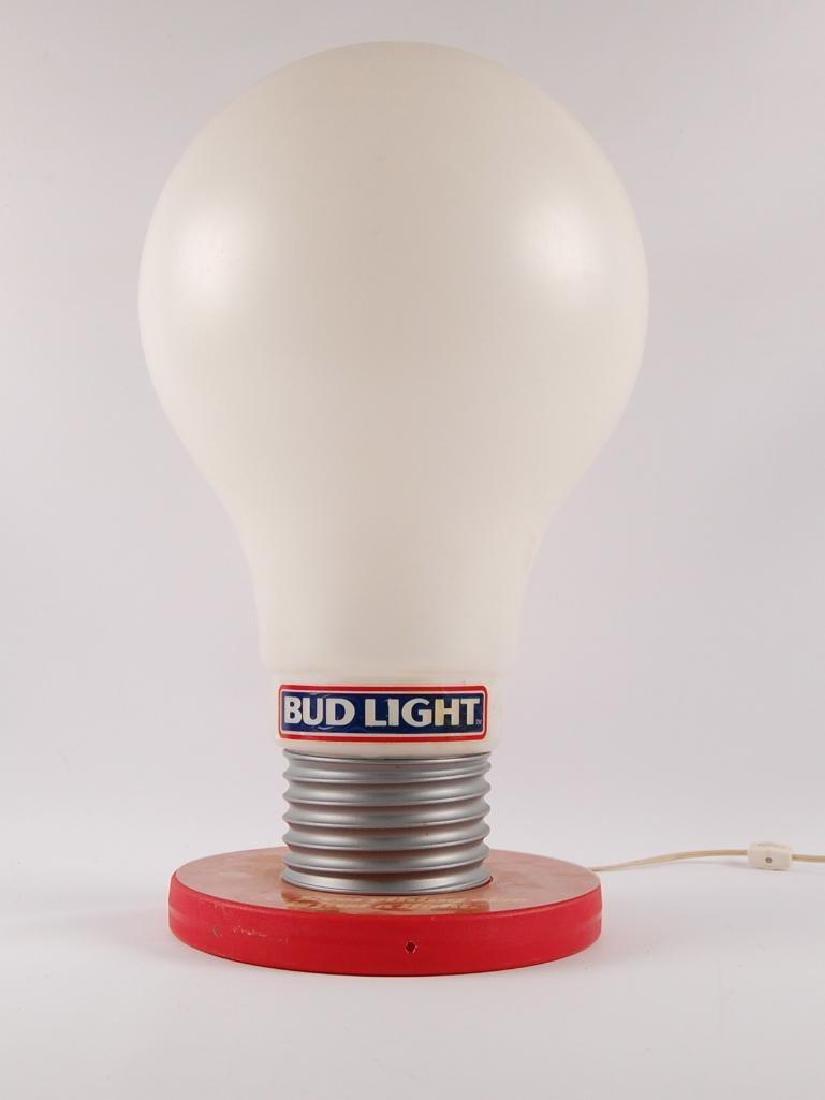 Vintage Bud Light Up Advertising Light Bulb Beer Sign