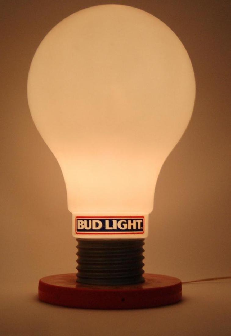 Vintage Bud Light Up Advertising Light Bulb Beer Sign - 2