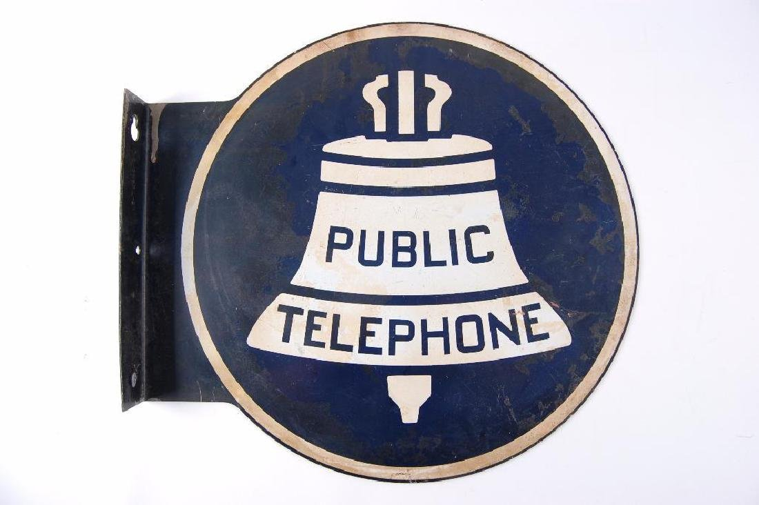 """Vintage Bell Systems """"Public Telephone"""" Flanged"""