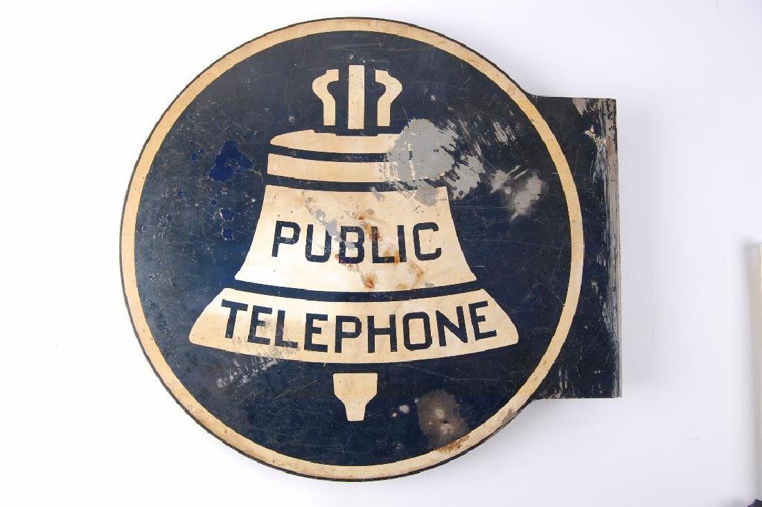 """Vintage Bell Systems """"Public Telephone"""" Flanged - 2"""