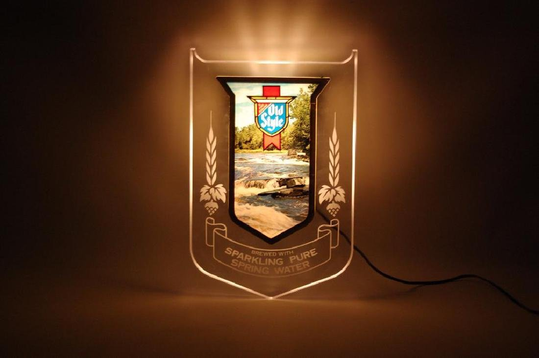 Vintage Heileman's Old Style Light Up Advertising Beer - 2