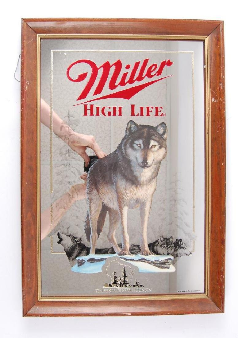 Vintage Miller High Life Timber Wolf Wisconsin