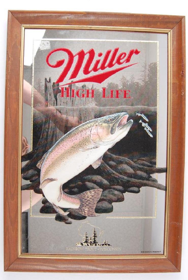 Vintage Miller High Life Rainbow Trout Wisconsin