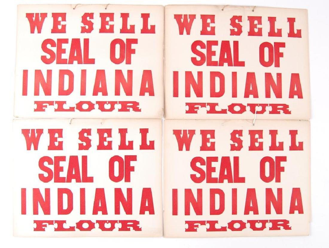Group of 4 Vintage Indiana Flour Cardboard Advertising