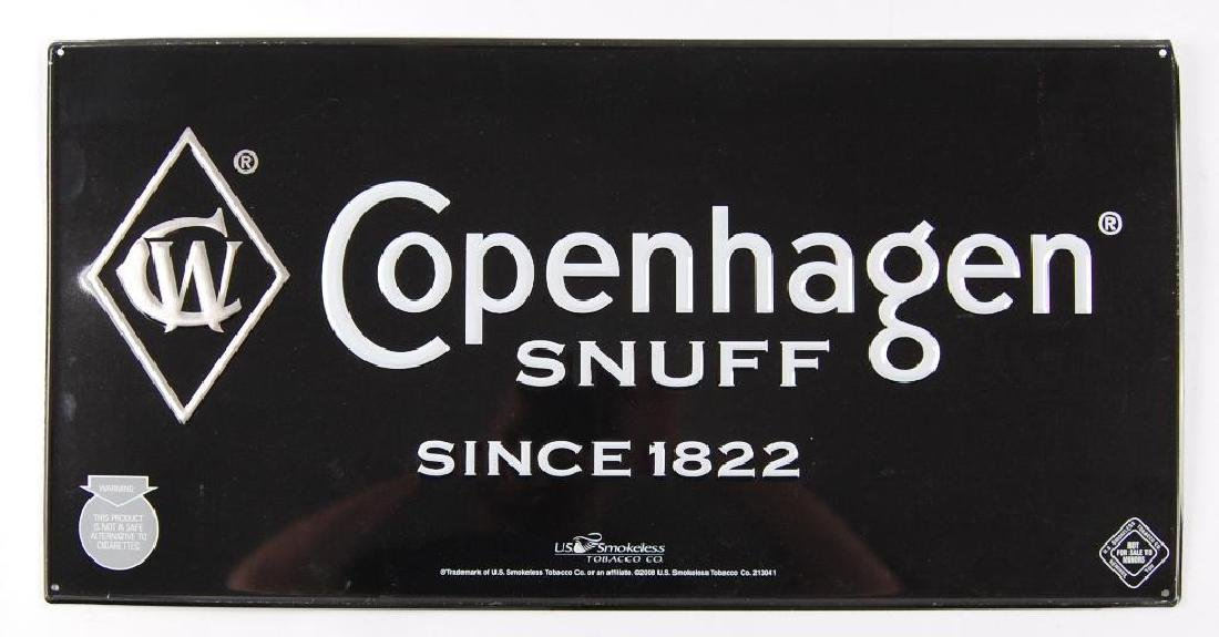 Modern Copenhagen Snuff Advertising Metal Sign