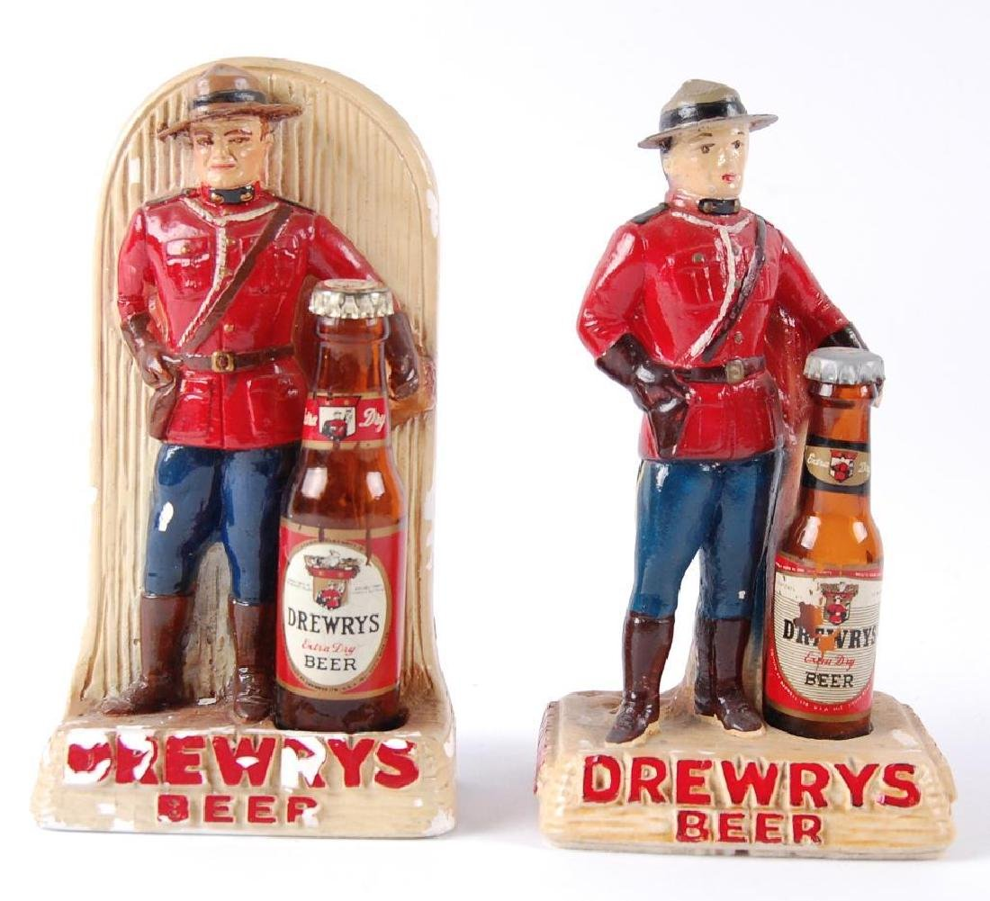 Group of 2 Vintage Drewrys Canadian Mounty Advertising