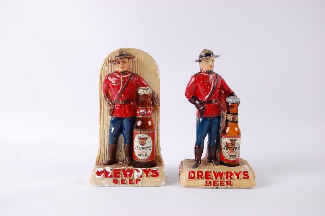 Group of 2 Vintage Drewrys Canadian Mounty Advertising - 2