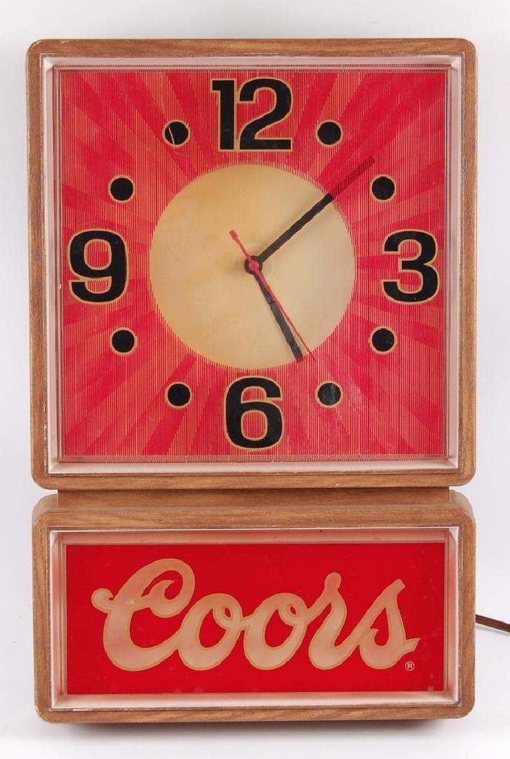 Vintage Coors Light Up Advertising Beer Clock