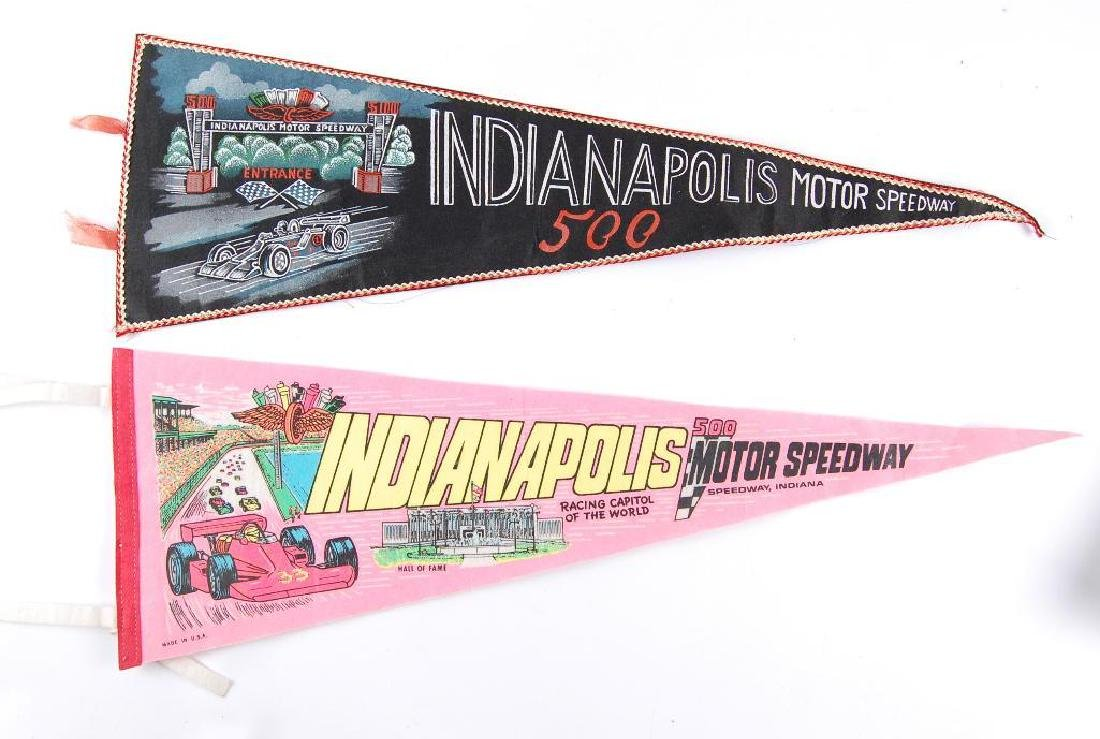 Group of 2 Vintage Indianapolis 500 Pennants