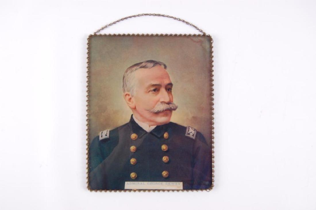 Vintage Admiral George Dewey Reverse Painted Chain