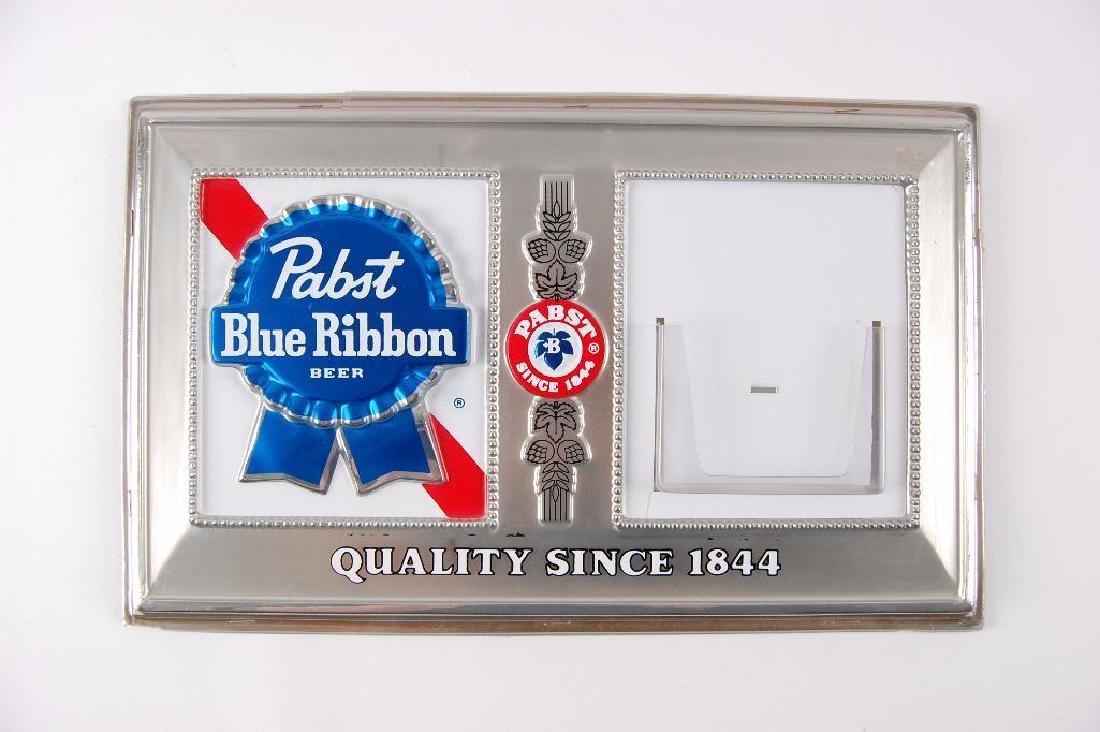 Vintage Pabst Blue Ribbon Embossed Advertising Plastic