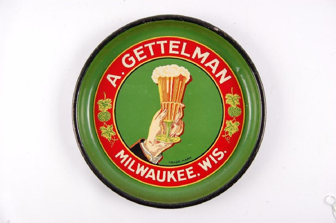 Vintage A. Gettelman Milwaukee Wis. Tray and Tappers