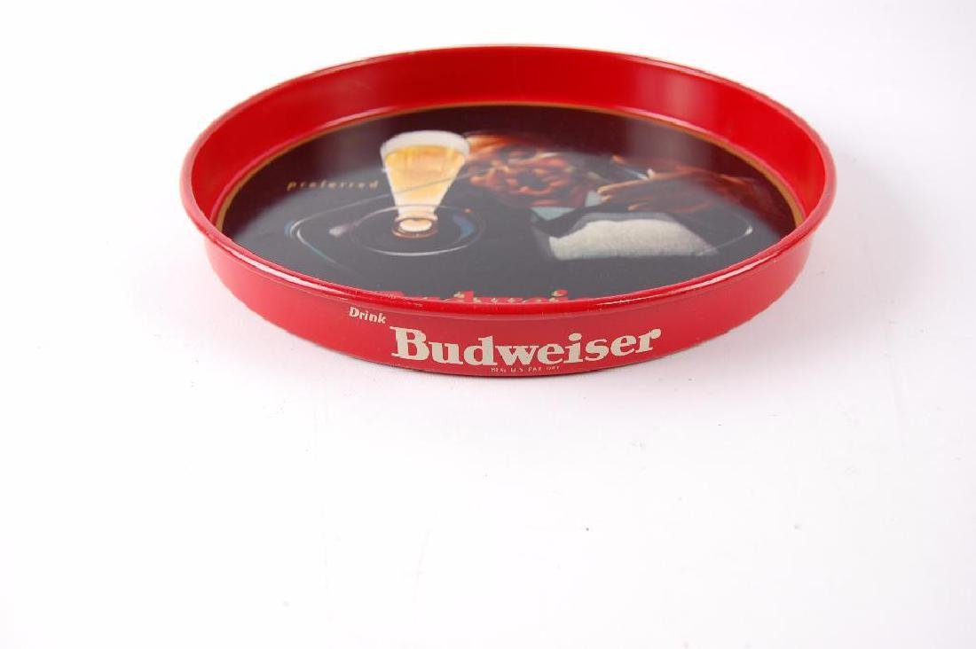 Vintage Budweiser Advertising Metal Beer Tray - 2