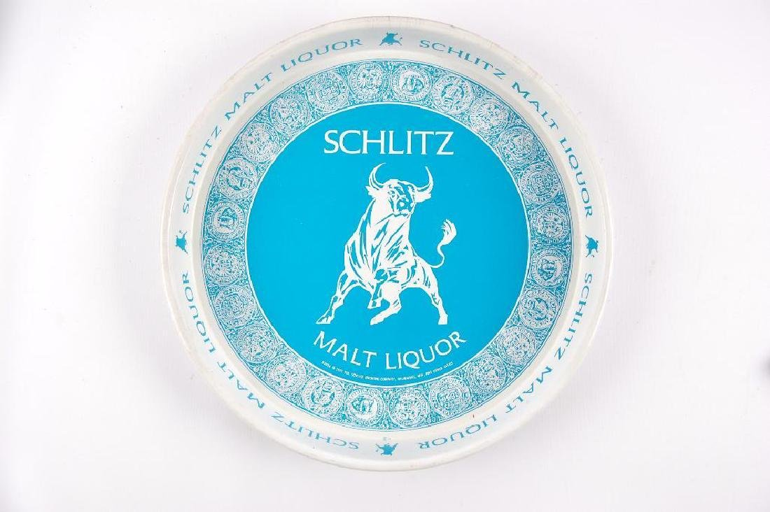 Vintage Schlitz Malt Liquor Advertising Metal Beer Tray