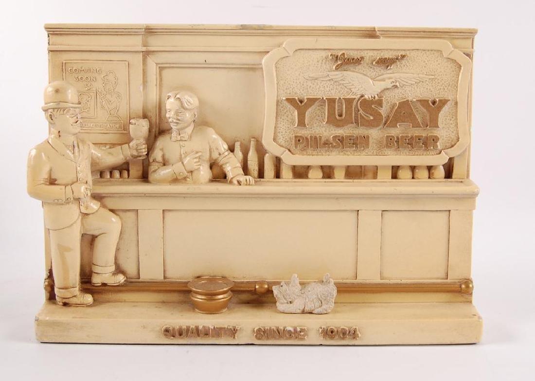 """Vintage Yusay Pilsen Beer """"Just Say"""" Advertising Chalk"""