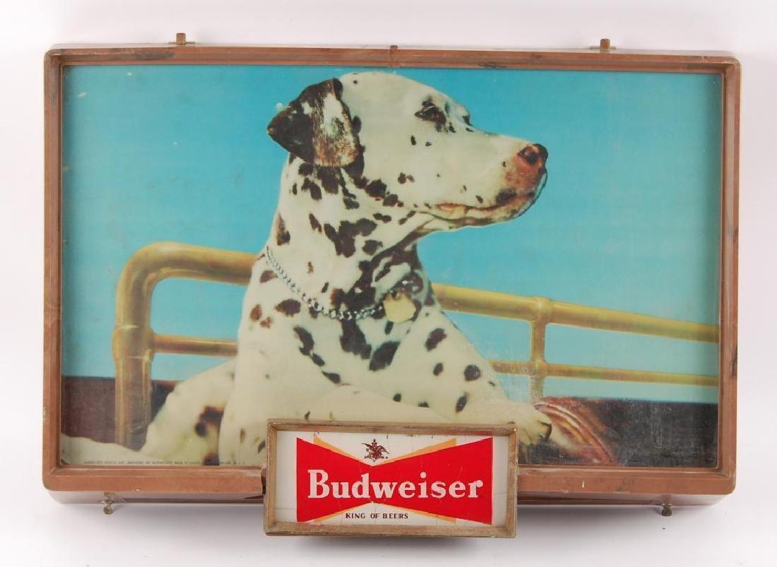 Vintage Budweiser Light Up Advertising Beer Sign