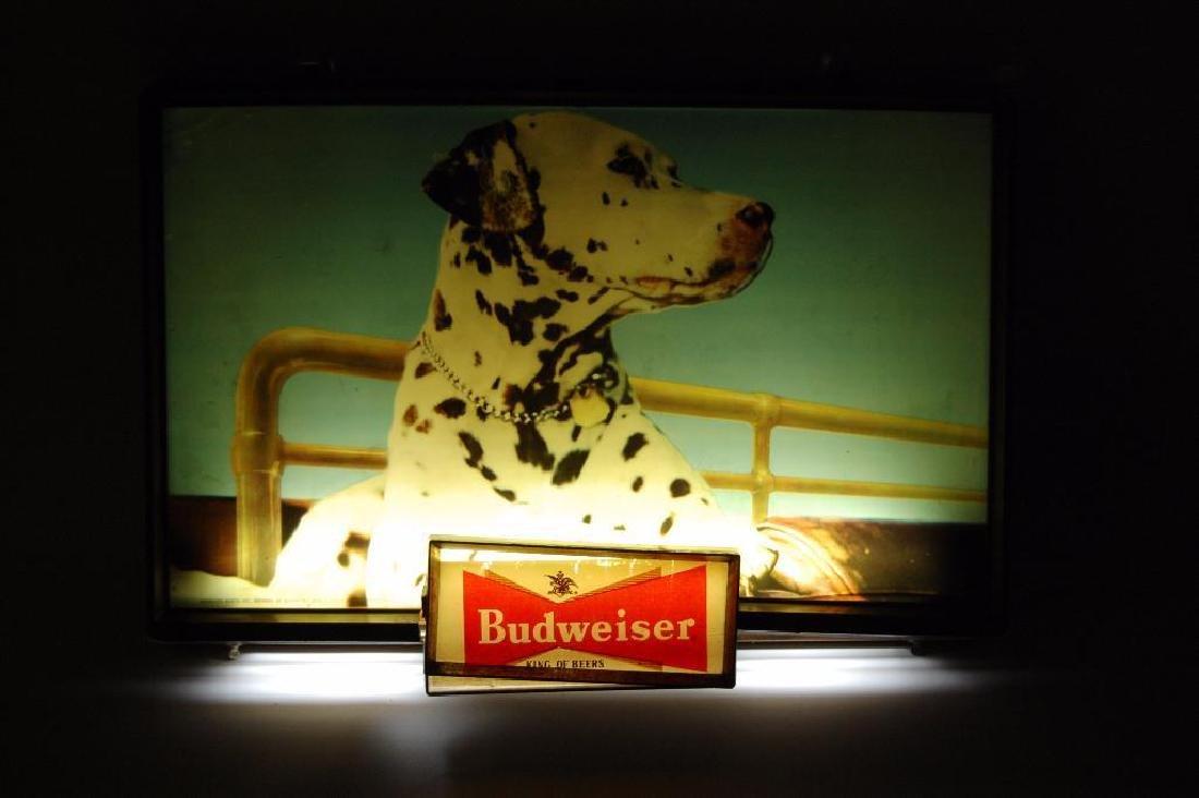 Vintage Budweiser Light Up Advertising Beer Sign - 2