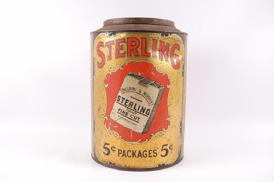 Vintage Sterling Tobacco 5 Pound Advertising Storage