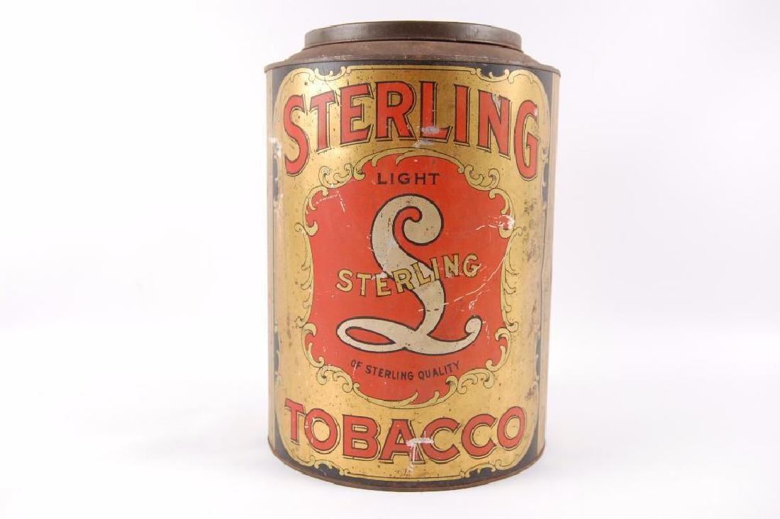 Vintage Sterling Tobacco 5 Pound Advertising Storage - 2