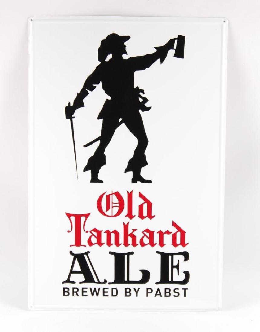 Modern Old Tankard Ale Advertising Metal Beer Sign