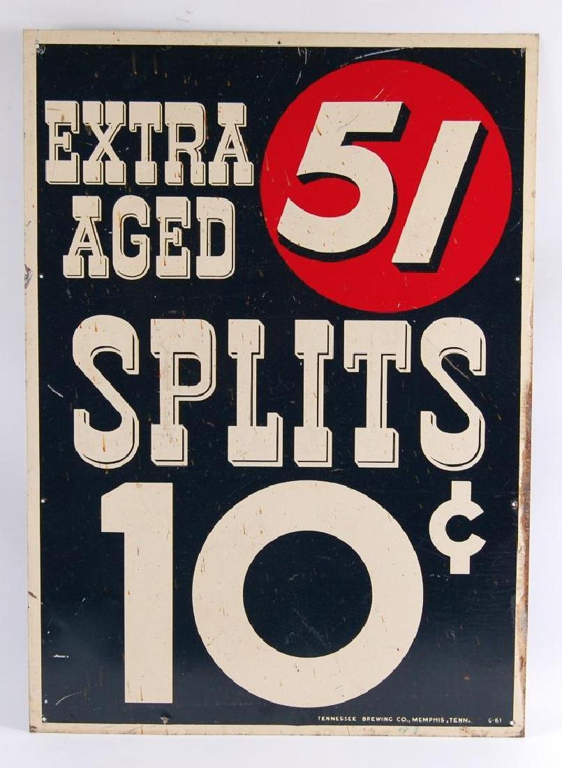 Vintage 51 Extra Aged Spits 10 Cents Advertising Metal