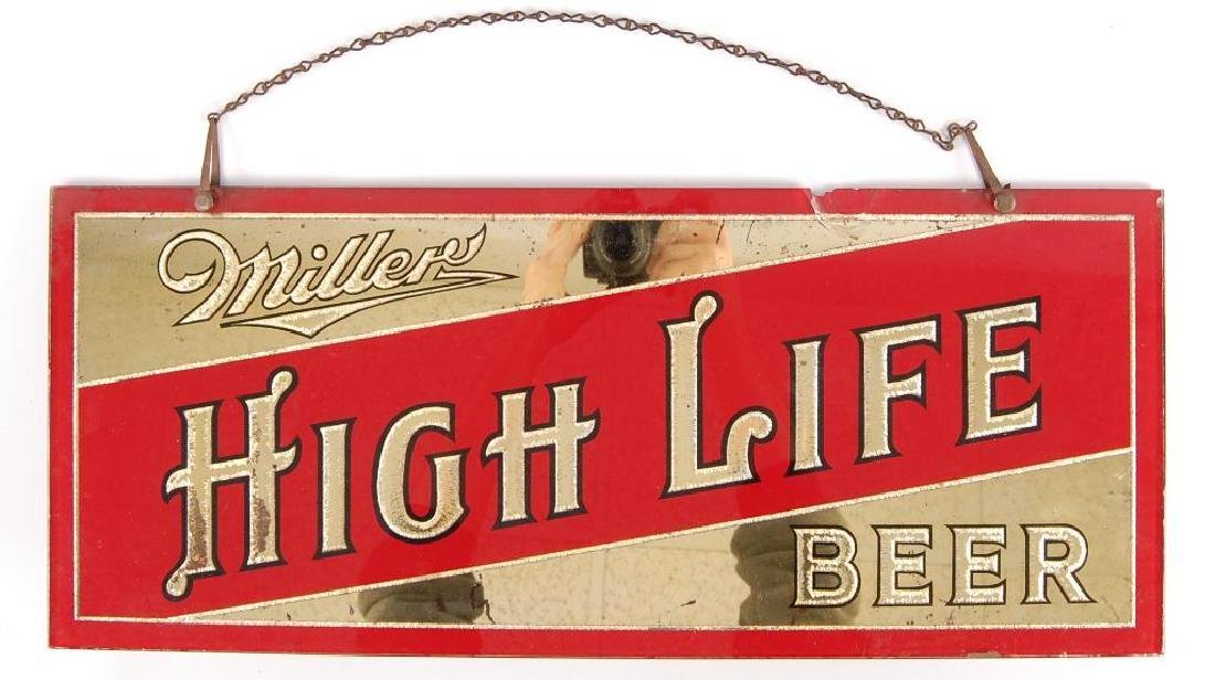 Vintage Miller High Life Reverse Painted Advertising - 2