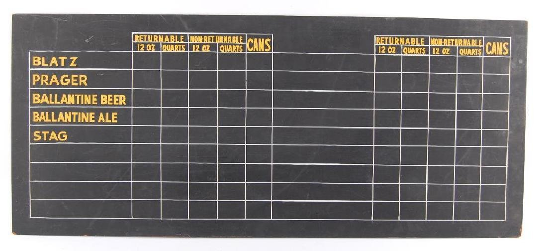 Vintage Chalkboard Advertising Menu Board