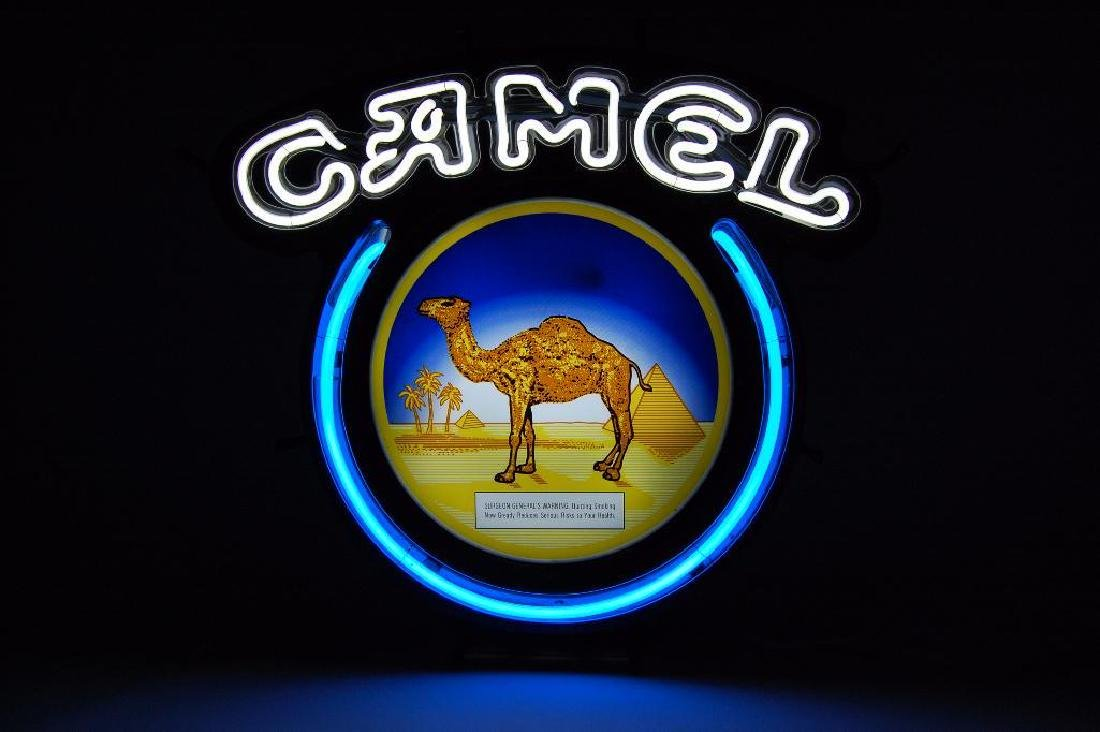 Camel Cigarettes Advertising Neon Sign