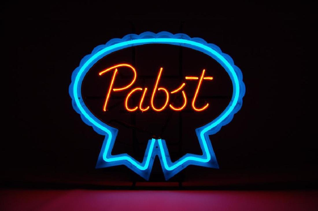 Pabst Blue Ribbon Advertising Neon Beer Sign