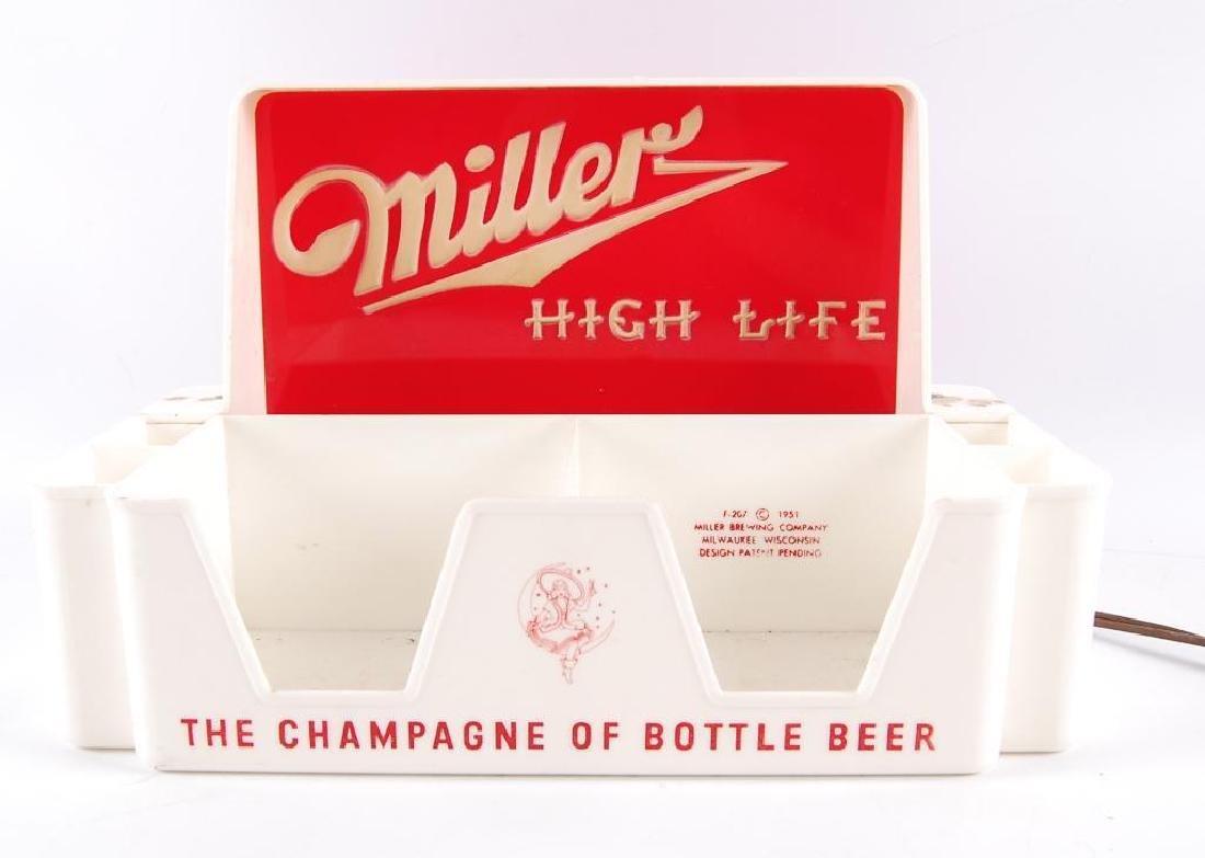 Vintage Miller High Life Light Up Advertising Napkin