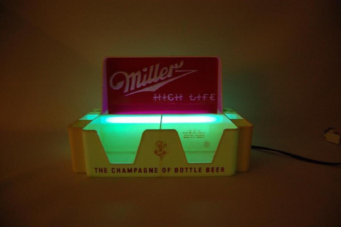 Vintage Miller High Life Light Up Advertising Napkin - 2