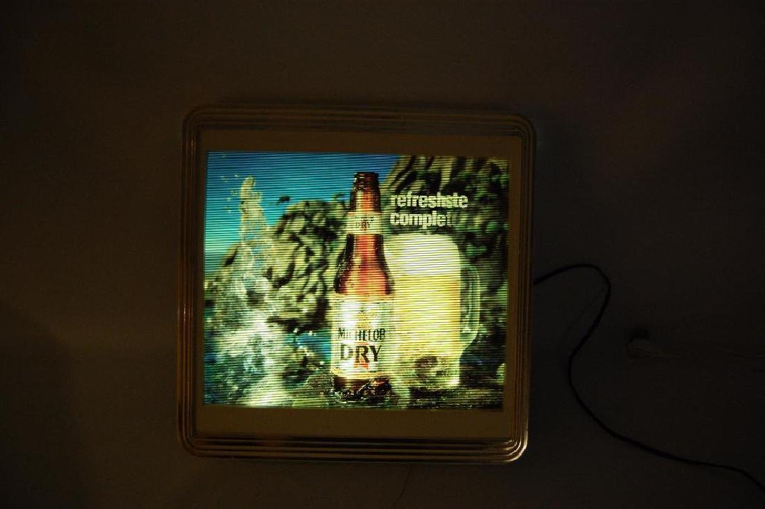 Vintage Michelob Dry Light Up Advertising Motion Beer