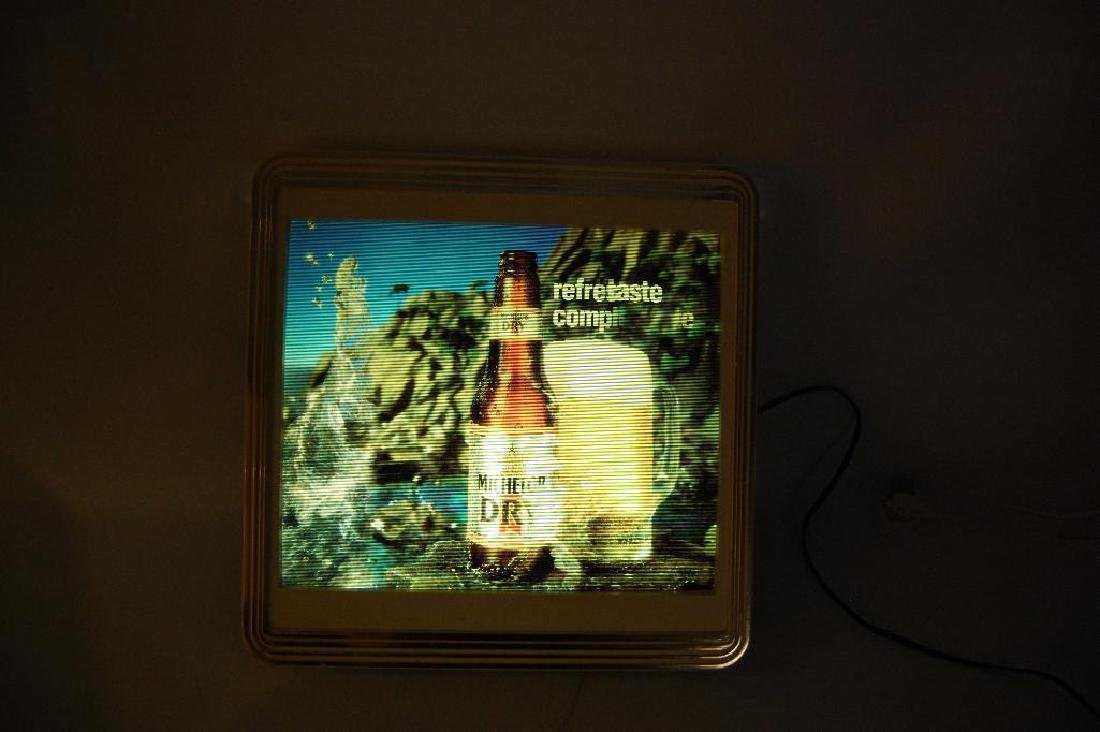 Vintage Michelob Dry Light Up Advertising Motion Beer - 2