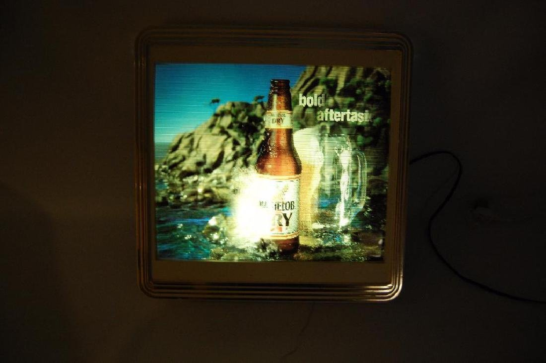 Vintage Michelob Dry Light Up Advertising Motion Beer - 4