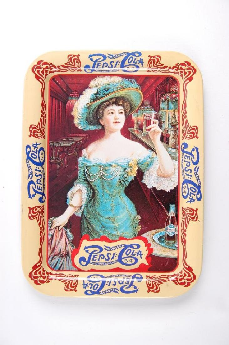 Vintage Pep-Cola Advertising Drink Tray Featuring
