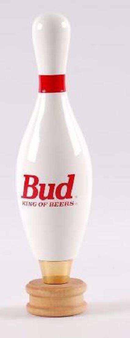 Budweiser Bowling Pin Salesman Sample Beer Tapper