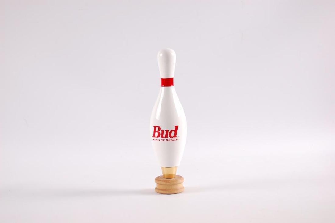 Budweiser Bowling Pin Salesman Sample Beer Tapper - 2