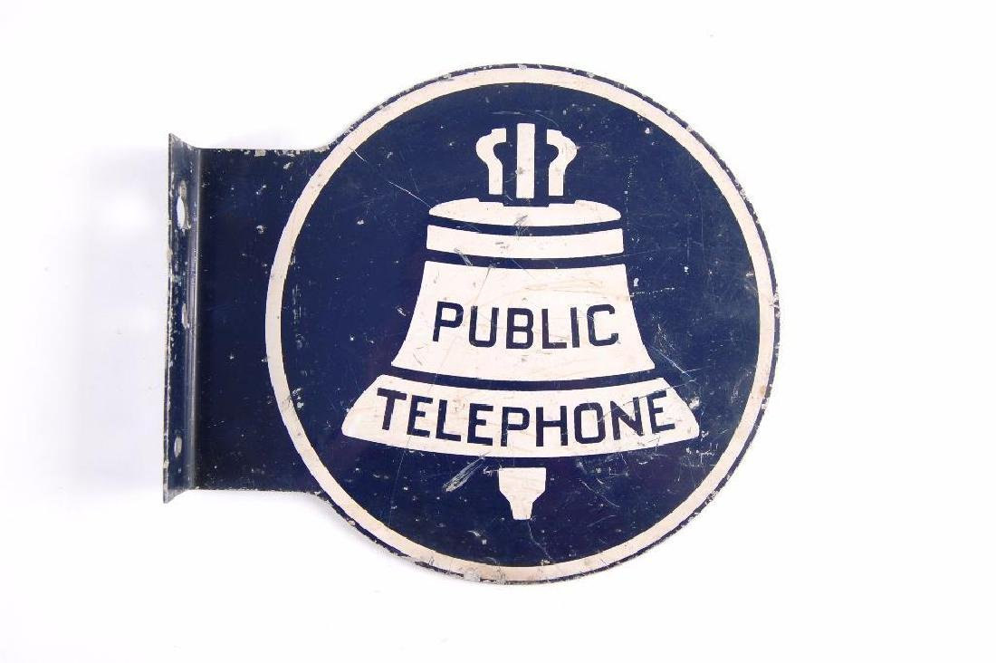 Vintage Bell Systems Public Telephone flanged Metal